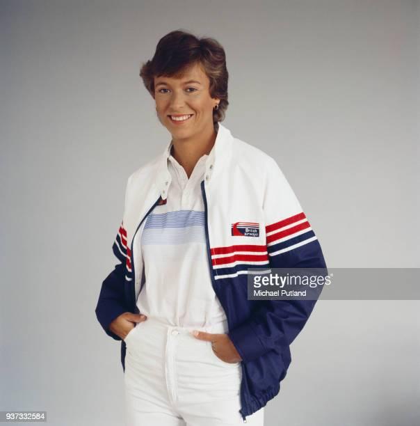 British tennis player Jo Durie London UK 1984