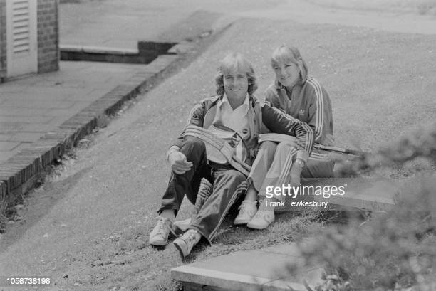 British tennis player John Lloyd and American tennis player Chris Evert UK 23rd May 1979