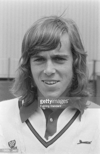 British tennis player John Lloyd during the 1973 British Hard Court Championships in Bournemouth, UK, May 1973.