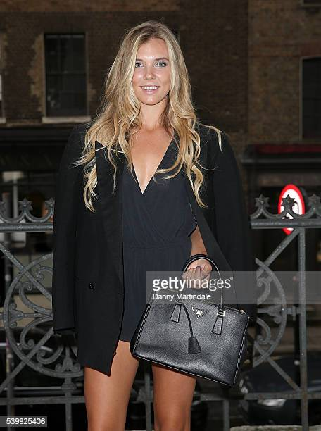 British Tennis player Katie Boulter attends the Joshua Kane x LAB SERIES show during The London Collections Men SS17 at on June 13 2016 in London...