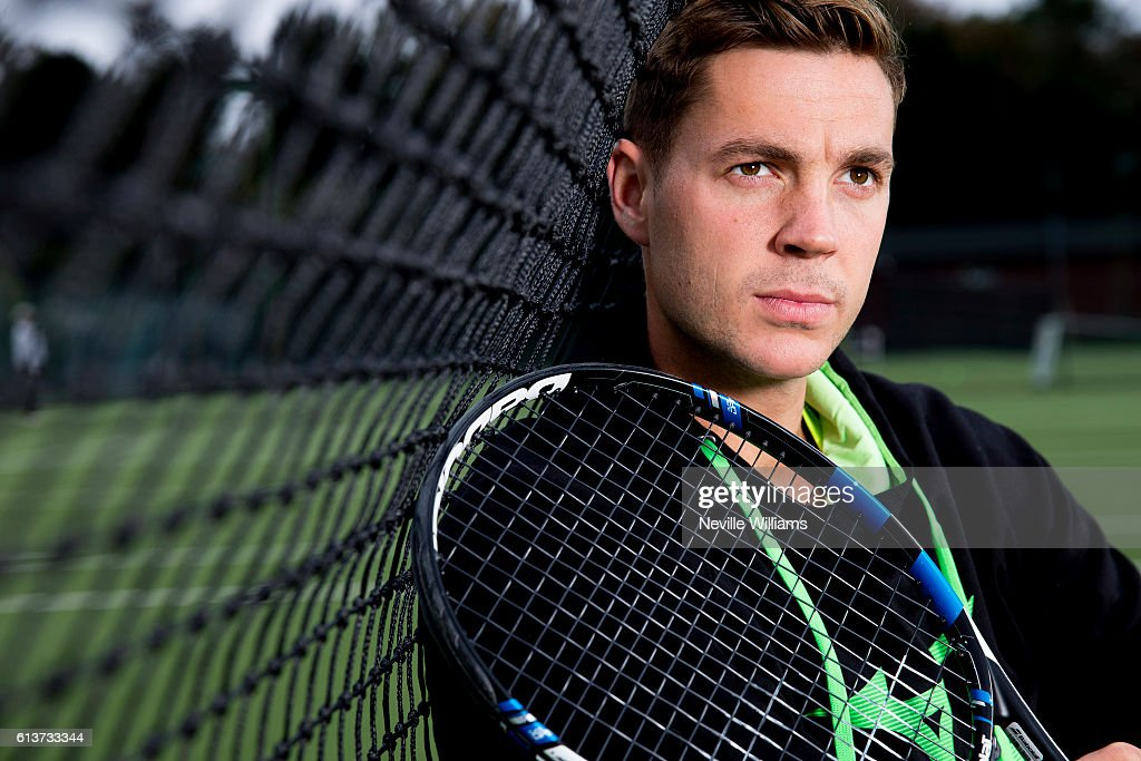 British tennis player Marcus Willis poses at the Warwick Boat Club as he gets ready to play for a winner-take-all prize of $250,000 at Tie Break Tens in Vienna on October 23rd. He will be up against Andy Murray, Jo Wilfried Tsonga and Dominic Thiem.