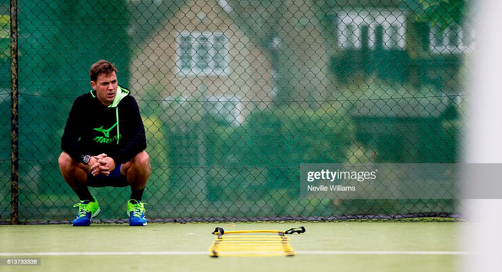 British tennis player Marcus Willis trains at the Warwick Boat Club as he gets ready to play for a winner-take-all prize of $250,000 at Tie Break Tens in Vienna on October 23rd. He will be up against Andy Murray, Jo Wilfried Tsonga and Dominic Thiem.