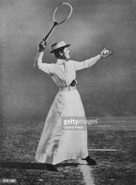 British tennis player Muriel Robb winner of the women's singles title at Wimbledon Original Publication From 'Fifty Years Of Wimbledon 1877 1926' by...