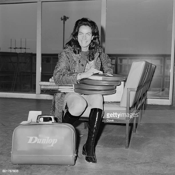 British tennis player Virginia Wade at London Airport UK 31st January 1970 She is leaving for Philadelphia to compete in a tennis tournament