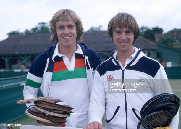 British tennis players and brothers John Lloyd and David Lloyd circa 1978