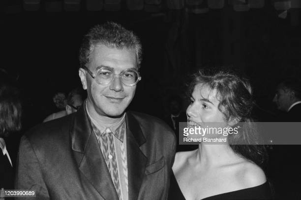 British theatrical impresario and film producer Michael White and his partner Louise Moores in Cannes France 9th May 1987
