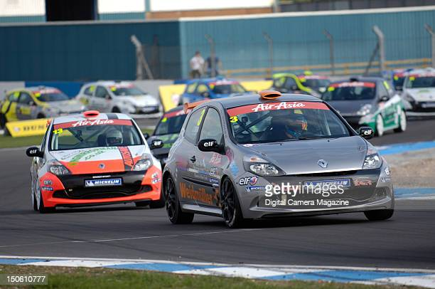 British Touring Car Championship racers in action at Donington Park Derby April 18 2011