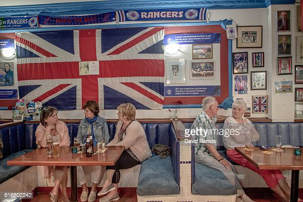 British tourists have drinks at a English bar on March 17 2016 in Benalmadena Spain Spain is Europe's top destination for British expats with the...