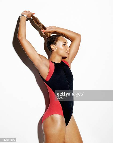 British track and field athlete Jessica Ennis is photographed for Marie Claire UK on October 13 2011 in New York City