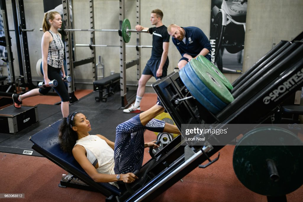 Athletes Are Put Through Their Paces At The British Athletics National Performance Institute : News Photo