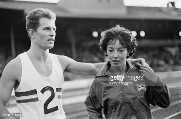 British track and field athletes Robbie Brightwell and Ann Packer UK 16th August 1964