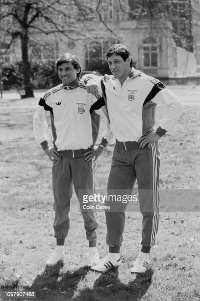 British track and field athletes Sebastian Coe and Allan Wells UK 24th April 1984