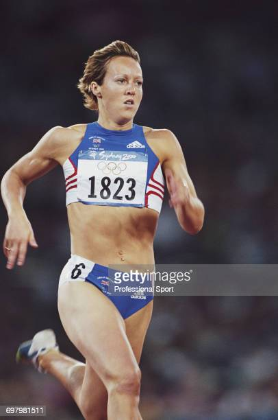 British track athlete Allison Curbishley competes for the Great Britain team to finish in 7th place in round two of the Women's 400 metres event at...