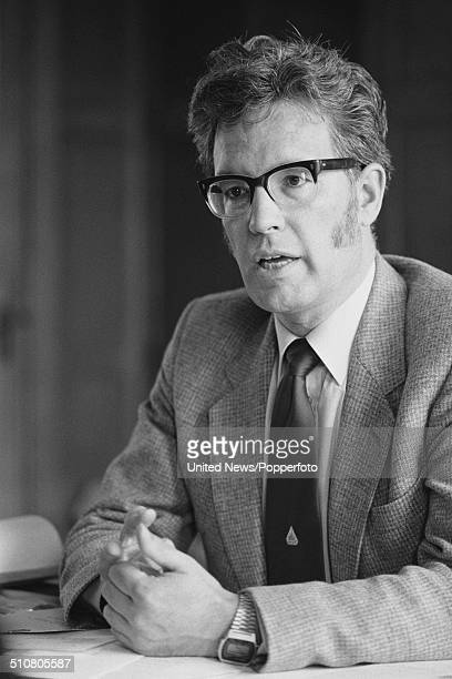British trade union leader and General Secretary of National Union of Public Employees Rodney Bickerstaffe pictured sitting at a desk in London on...