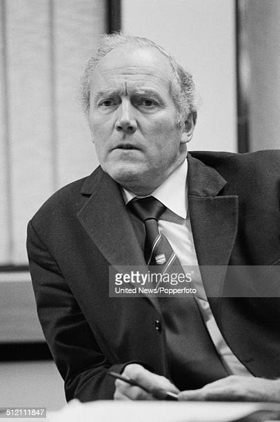 British trade union leader and General Secretary of the National Union of General and Municipal Workers David Basnett pictured in the union head...