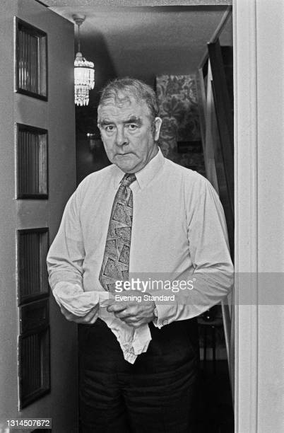 British trade union leader Joe Gormley , President of the National Union of Mineworkers , during negotiations over a proposed strike by the NUM, UK,...