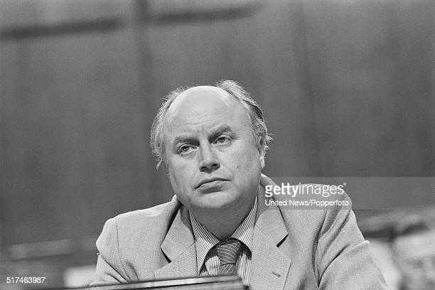 British trade unionist and Assistant General Secretary of the Trades Union Congress , Norman Willis pictured on the platform at the Trades Union...