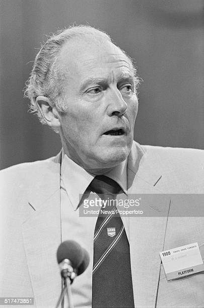 British trade unionist and General Secretary of the National Union of General and Municipal Workers, David Basnett pictured at the Trades Union...