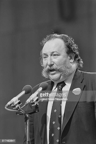 British trade unionist and General Secretary of the Post Office Workers Union, Thomas Jackson pictured on the platform at the Trades Union Congress...