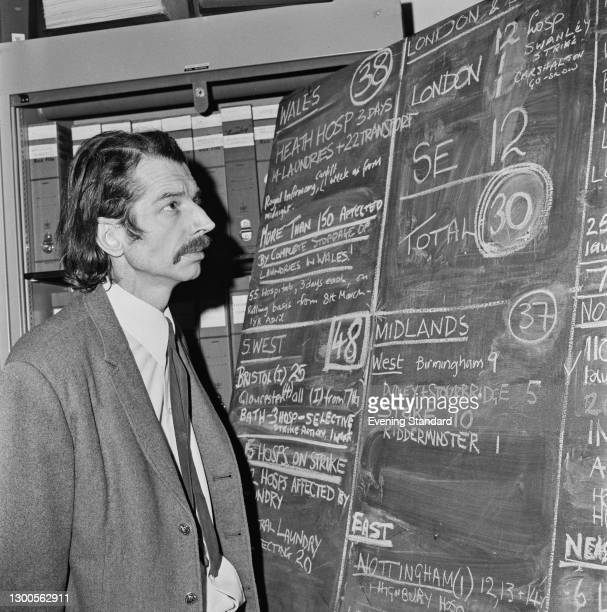 British trade unionist Bernard Dix , a publicity and research officer of the National Union of Public Employees , UK, 13th March 1973.