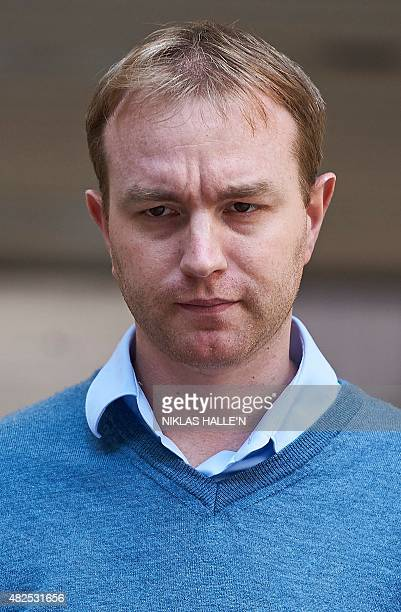 British trader Tom Hayes leaves Southwark Crown Court in London on July 31 as the trial over alleged rigging of the London Interbank Offered Rate...