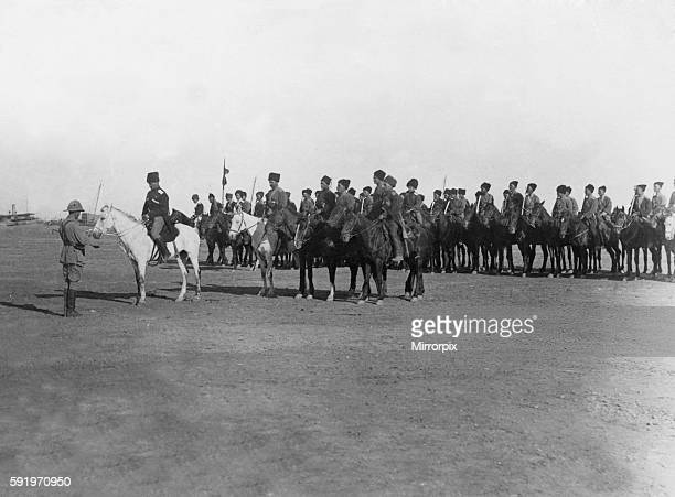A British translator delivers General Shore's speech to Cossack troops in Mesopotamia April 1917