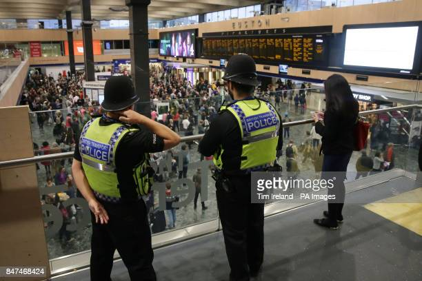 British Transport Police at Euston Station London after a terrorist incident was declared following a blast which sent a quotfireballquot and a...