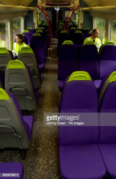 British Transport Police Constable Rebecca Lamb and PC Ian Gathercole travel aboard a C2C QTrain between Barking and LeighonSea in Essex * QTrains...
