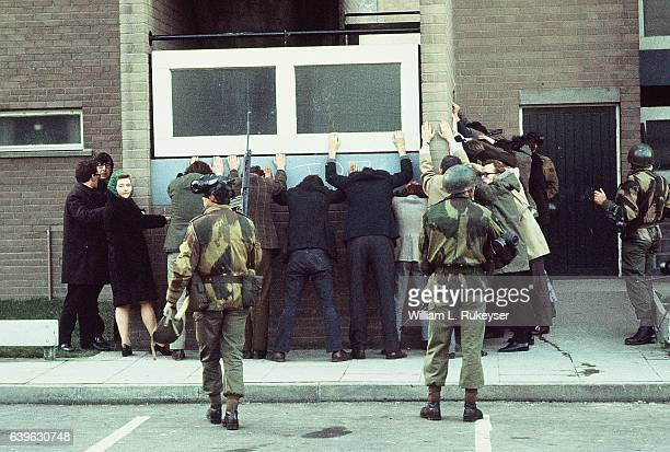 British troops arrest civilians on Rossville St Londonderry during a civil rights march The day went on to become known as Bloody Sunday as British...