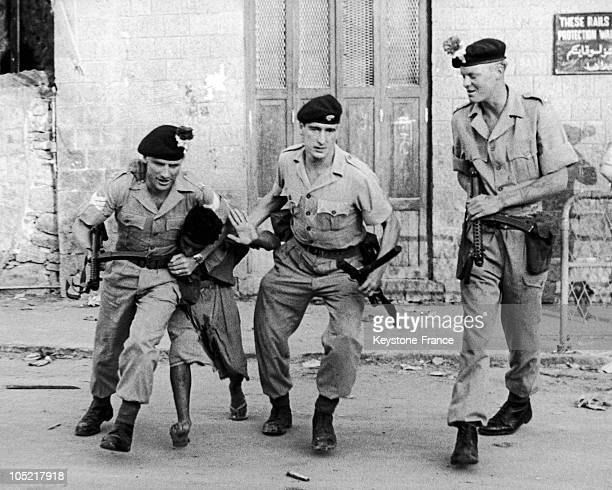 British Troops Arresting Demonstrators In The Crater District