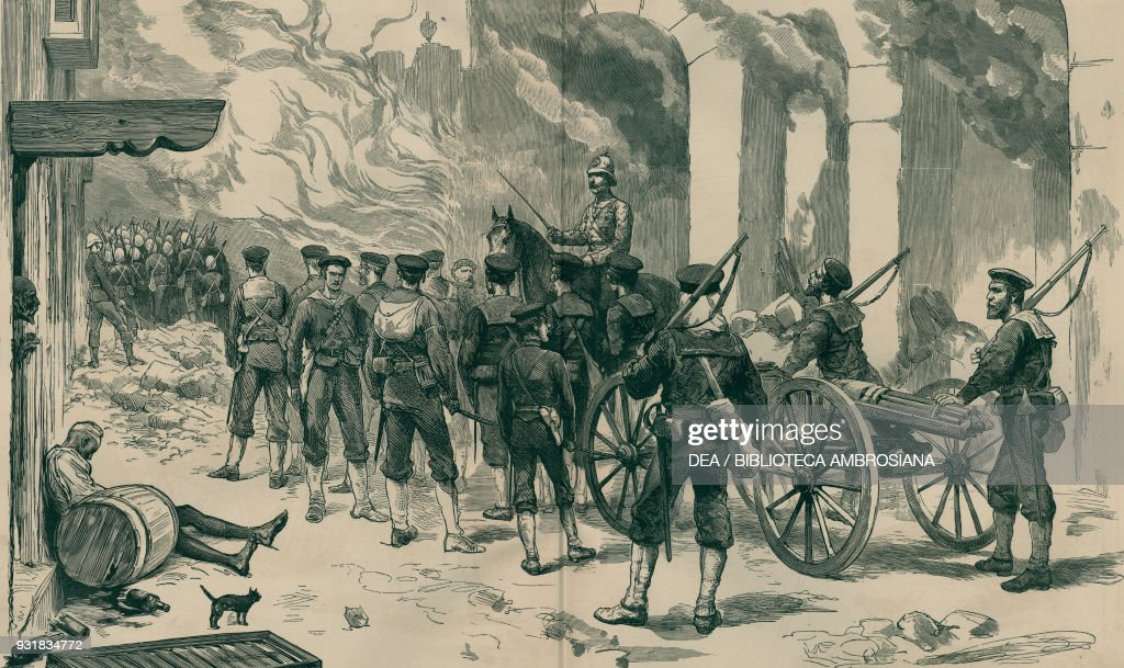british troops at alexandria illustration pictures getty images