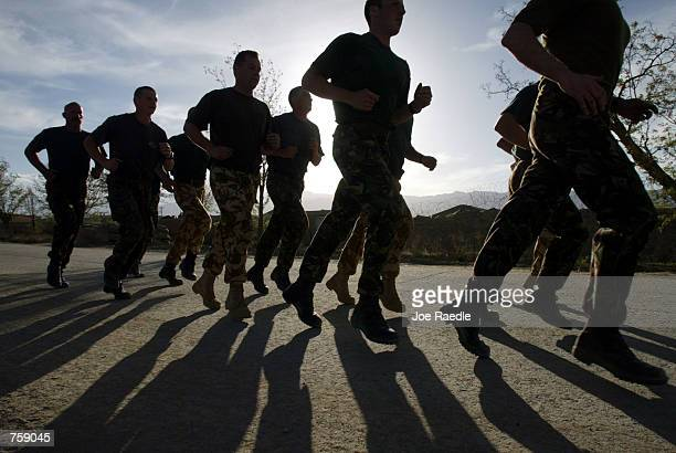 british troops at bagram air base, afghanistan - bagram air base stock pictures, royalty-free photos & images