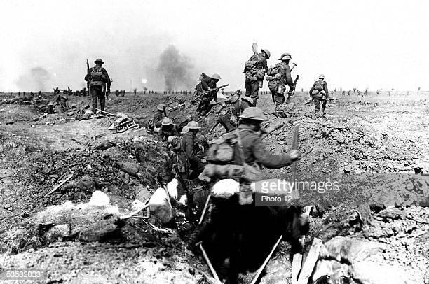 British troops during the Battle of Morval September 1916 France World War I London Imperial war museum