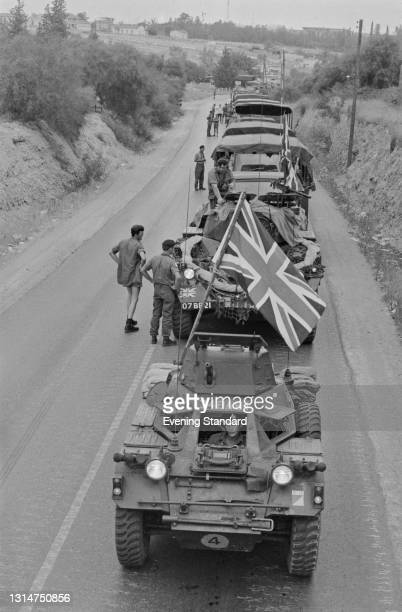 British troops in Nicosia during the Turkish invasion of Cyprus, UK, July 1974.