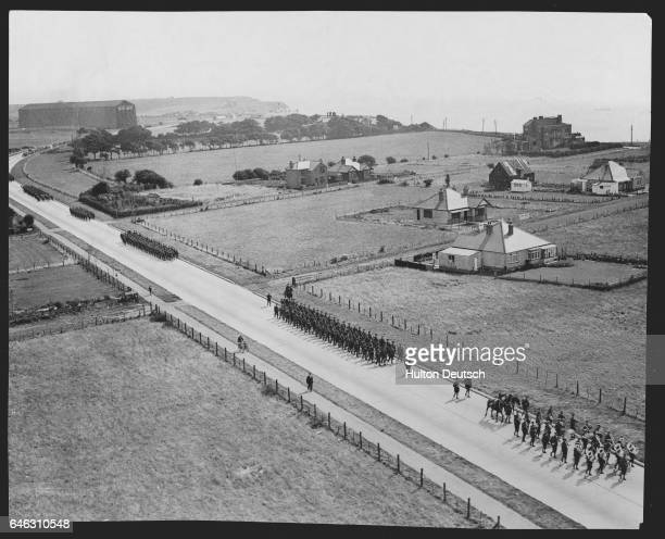 British Troops Marching from Dover to Arundel