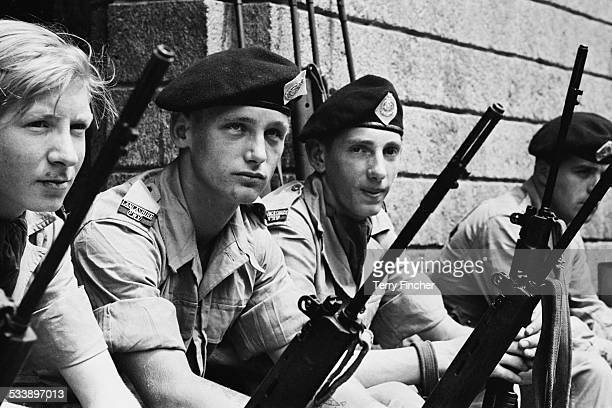 British troops of the Lancashire Regiment in Aden during the Aden Emergency 7th March 1967