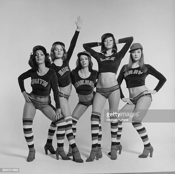 British TV dance troupe Pan's People 6th January 1976 The dancers are a regular feature of the BBC TV show 'Top Of The Pops' Left to right Ruth...