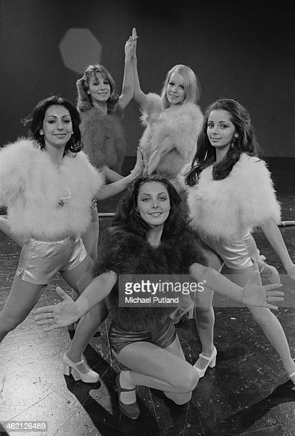 British TV dance troupe Pan's People January 1974 Clockwise from front Louise Clarke Ruth Pearson Patricia 'Dee Dee' Wilde Barbara 'Babs' Lord and...