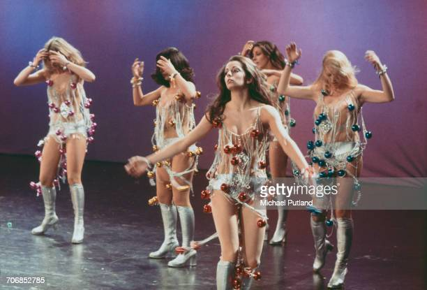 British TV dance troupe Pan's People performing January 1974 Left to right Patricia 'Dee Dee' Wilde Ruth Pearson Cherry Gillespie Louise Clarke and...