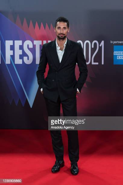 British TV personality Hugo Taylor attends the European premiere of season 3 of 'Succession' television series at the Royal Festival Hall during the...