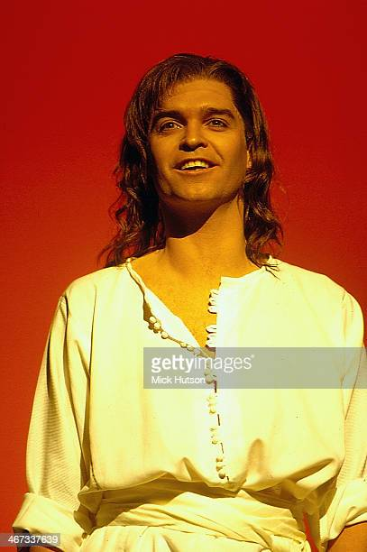 British TV personality Phillip Schofield on stage in the musical 'Joseph and the Amazing Technicolor Dreamcoat', London, England, circa 1993.