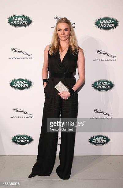 British TV presenter and former supermodel Jodie Kidd at the Jaguar Land Rover exclusive reception to unveil the 2016 Jaguar XF and Range Rover...