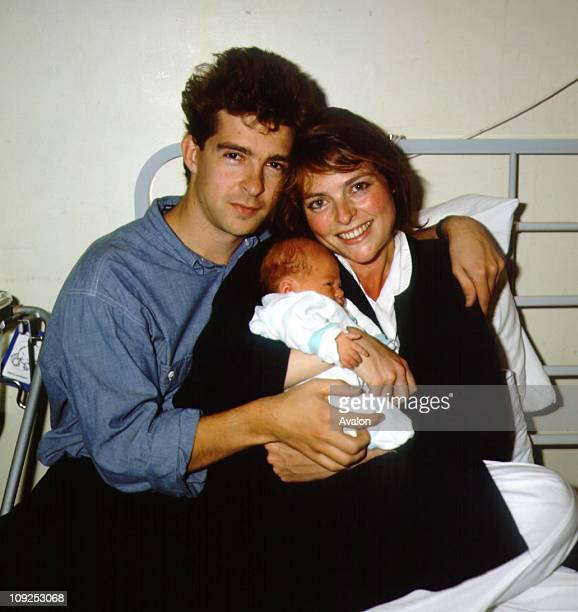 British TV Presenter Janet Ellis Presenter of the BBC TV Children's programme 'Blue Peter' with her husband JOHN LEACH British TV Producer and their...