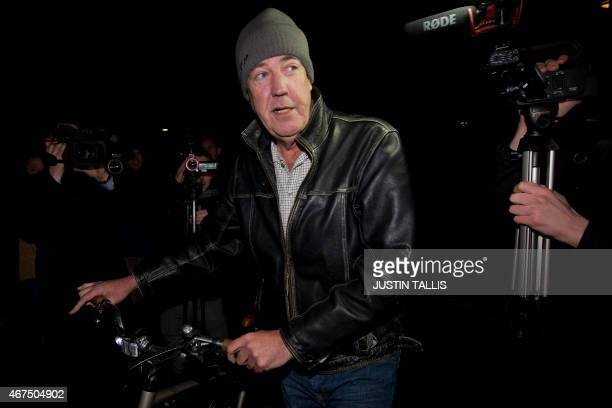 British TV presenter Jeremy Clarkson leaves his flat in west London on March 25 2015 The BBC announced on March 25 2015 that it was dropping one of...
