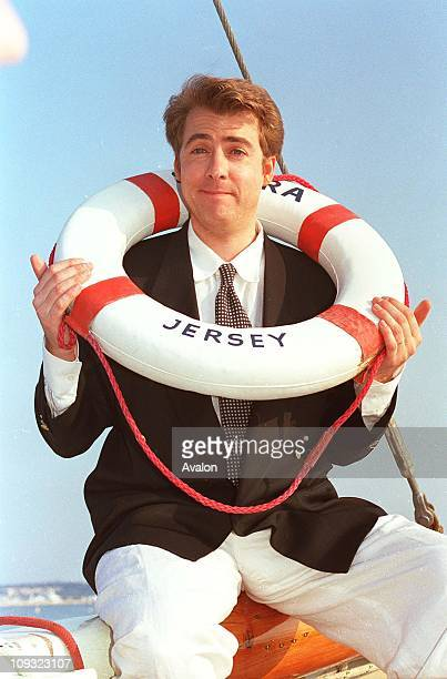 British TV Presenter Jonathan Ross At the 1991 Cannes Film Festival.