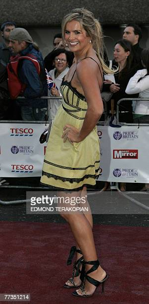British TV presenter Katy Hill arrives to the Pride of Britain awards at the London Studios in central London 09 October 2007 The 'Pride of Britain'...