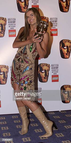 British TV presenter Katy Hill at the British Academy Childrens Film and Television Awards in London November 12 2000 Hill won the Best Presenter...