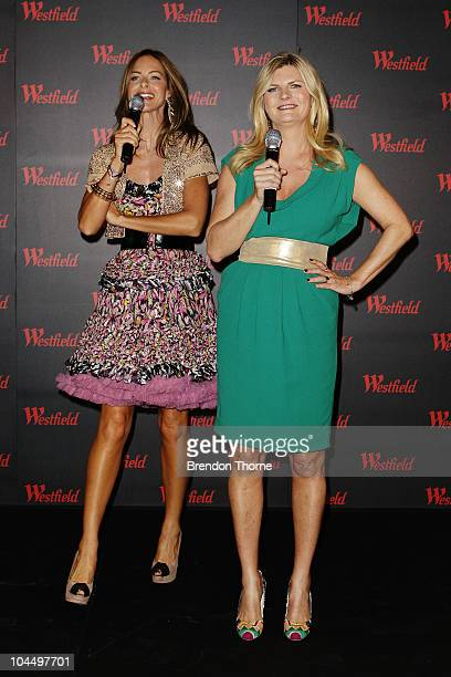 British TV presenters Trinny Woodall and Susannah Constantine address the audience at the Westfield Fashion Therapy launch event at the Sydney...