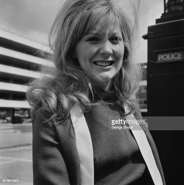 British United Airways employee and 'Miss London Interline' Mary Millington at Heathrow Airport London UK 27th May 1968