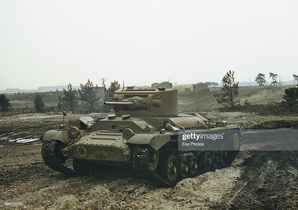 A British Valentine Infantry Tank, Circa 1940.